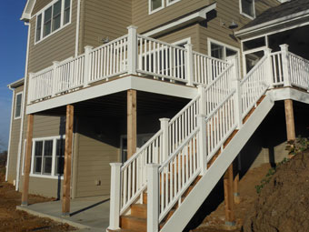 Deck railing and stairs